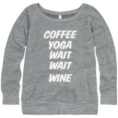 Coffee Yoga Wait Wine