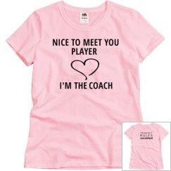 NICE TO MEET YOU PLAYER pink T-shirt