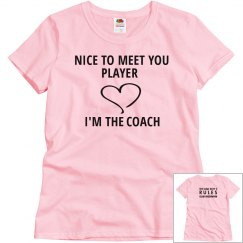 NICE TO MEET YOU PLAYER pink T-shirt