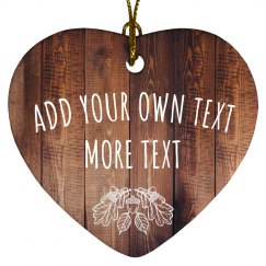 Create A Custom Text Rustic Design