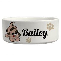 Bailey, Dog Bowl