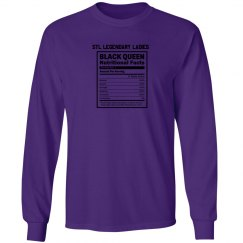 Nutritional Facts Long Sleeve Tee - Purple