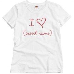 Custom Love Shirt