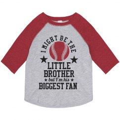Little Brother Big Baseball Fan