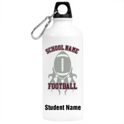 Custom Football Team Water Bottle