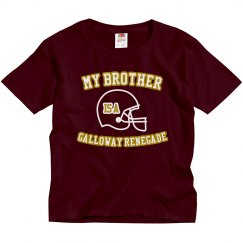 youth maroon brother tee