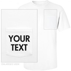 Personalized Cotton Pocket Tee