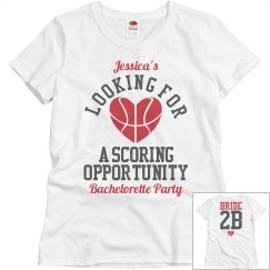 Basketball Bachelorette Party Bride to Be to Score Tee