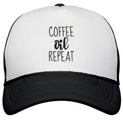 COFFEE OIL REPEAT Trucker Hat