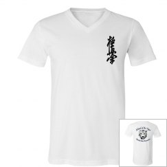 V-neck Jersey T-shirt with Kanji and Logo