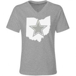Grey V Neck Ohio Dallas