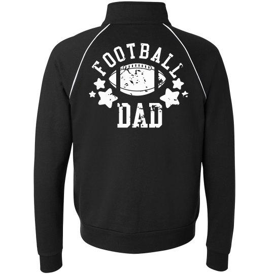 5e72e8b7c Rad Football Dad Unisex Full Zip Fleece Track Jacket