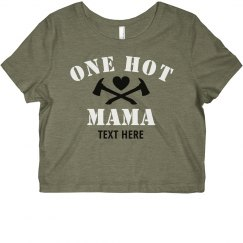 Personalized Hot Mama Crop