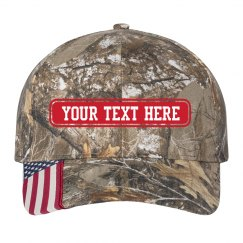 Custom Text Flag Hat