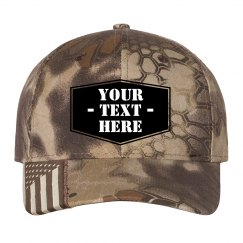 Custom Badge Camo Flag Hat