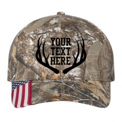 Custom Camo Antler Hat
