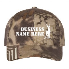 Custom Business Name Camo Hat
