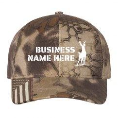 Custom Business Name Camo Hat