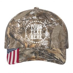Custom Text Star Camo Hat