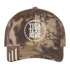 Custom Text Star Camo Hat