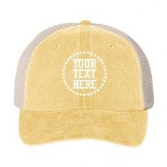 Cotton Twill Snapback Trucker Hat