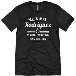 Mr. & Mrs. Virtual Wedding Custom
