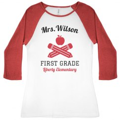 Teacher's Back to School Custom Raglan