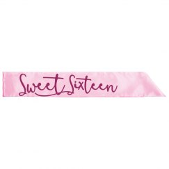 Sweet Sixteen Birthday Sash