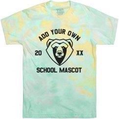 Custom Mascot Tie-Dye Tee