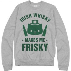 Irish Whisky Makes Me Frisky Cat