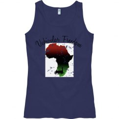 Green muscle tee w/African graphic
