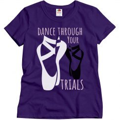 Purple tee w/Dance graphic