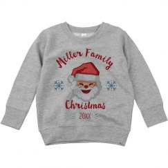 Custom Family Christmas Toddler Sweatshirt