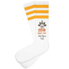 Turkey Trot Gold Striped Socks