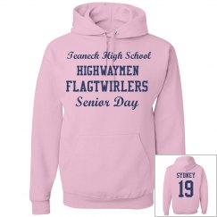Senior Day Twirler Hoodie-Breast Cancer Awareness Month