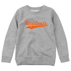 youth wildcats crewneck