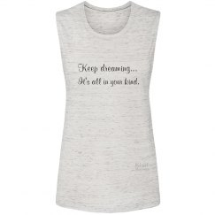 It's all in your kind ladies muscle tee