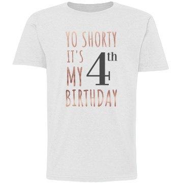 4th Birthday Metallic Top