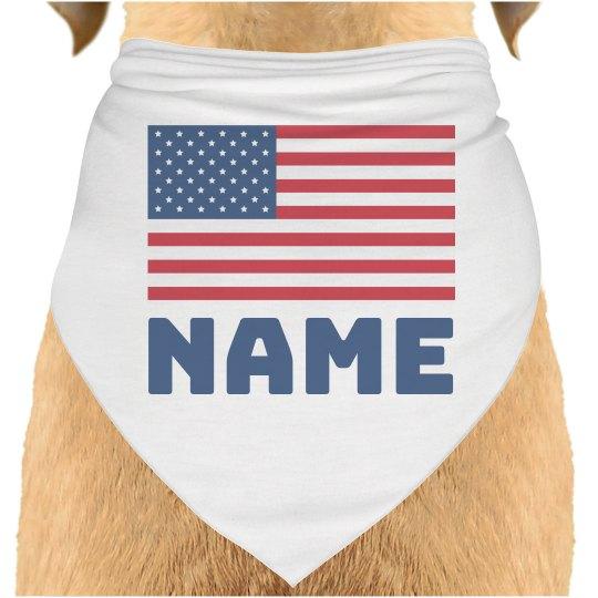 4th of July USA Flag Custom Name
