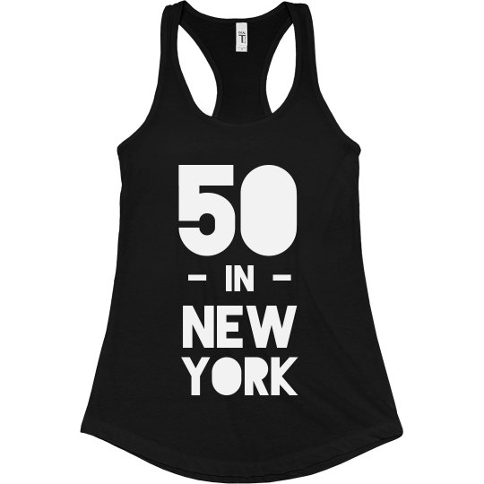 50 in NY Birthday Tank