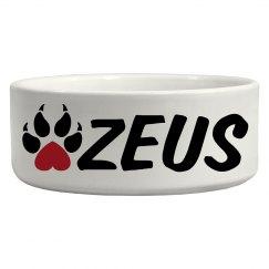 Zeus, Dog Bowl