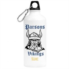 Parsons Vikings Personalized Waterbottle