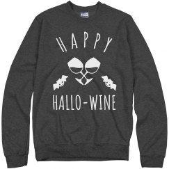 Happy Hallo-Wine Sweatshirt