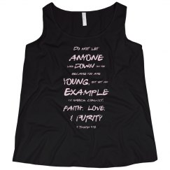 1 Timothy Be a Young Example Pink Words Plus Tank