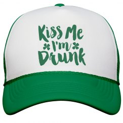 Kiss Me I'm Drunk Green Shamrock