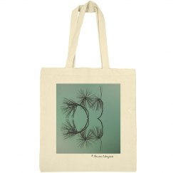 Branches teal (tote bag)