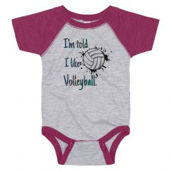 I'm told I like Volleyball infant