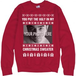 Custom Ugly Christmas Sweater Funny Gag Sweater