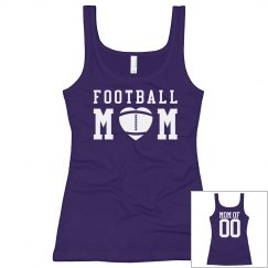 Cute Custom Football Mom Tank Tops With Custom Back