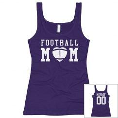 Cute Custom Football Mom Tank Tops With Custom Back